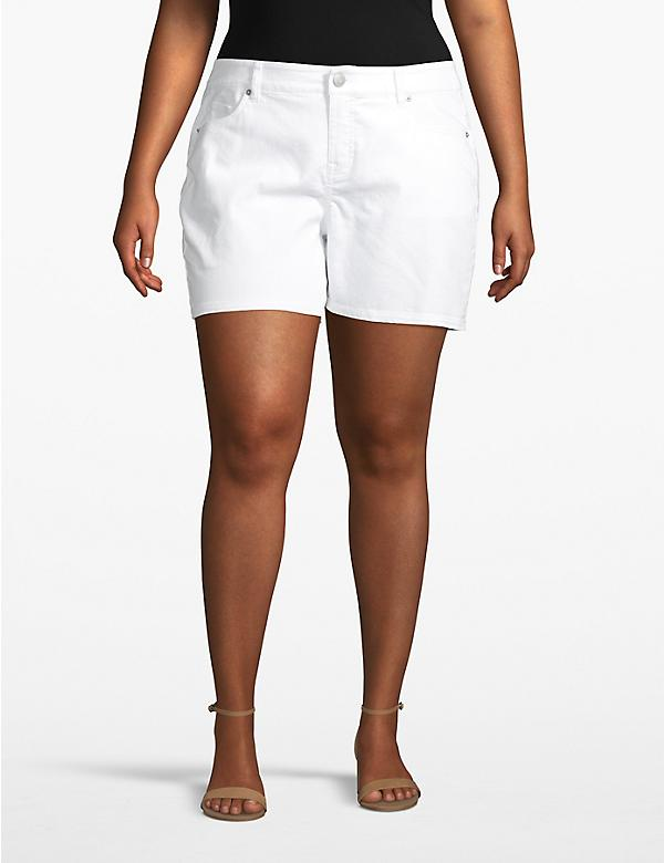 Venezia Denim Short - White
