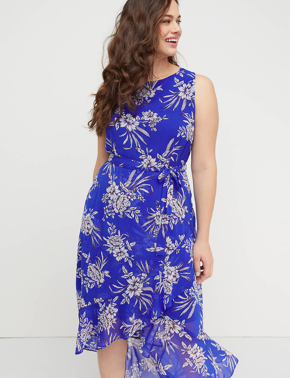 8f8fc9a41e1 Floral High-Low Maxi Dress
