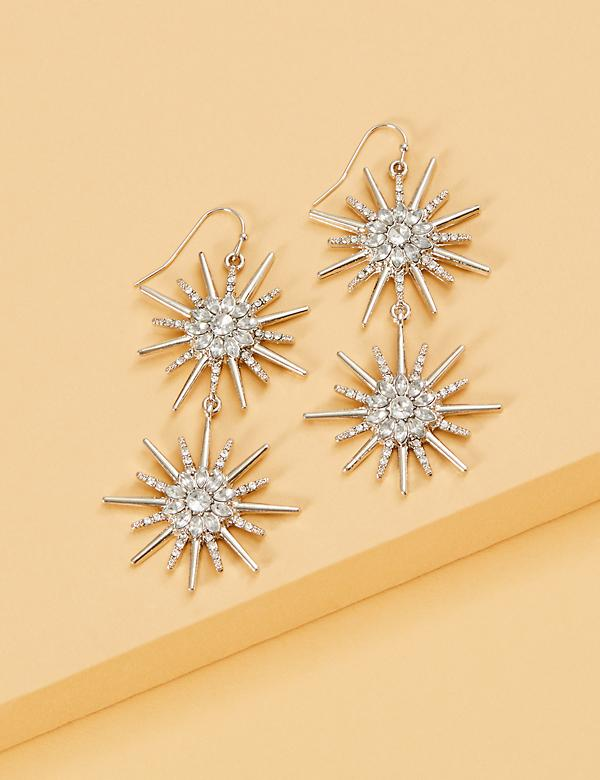 Starburst Double Drop Earrings