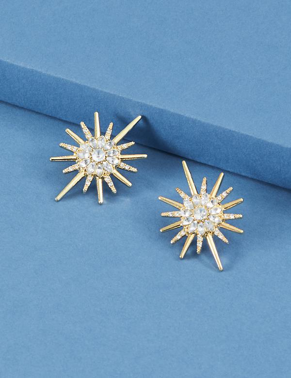 Statement Starburst Stud Earrings
