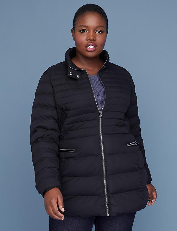 Stretch Puffer Jacket - Black