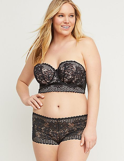 Floral Lace Cheeky Short