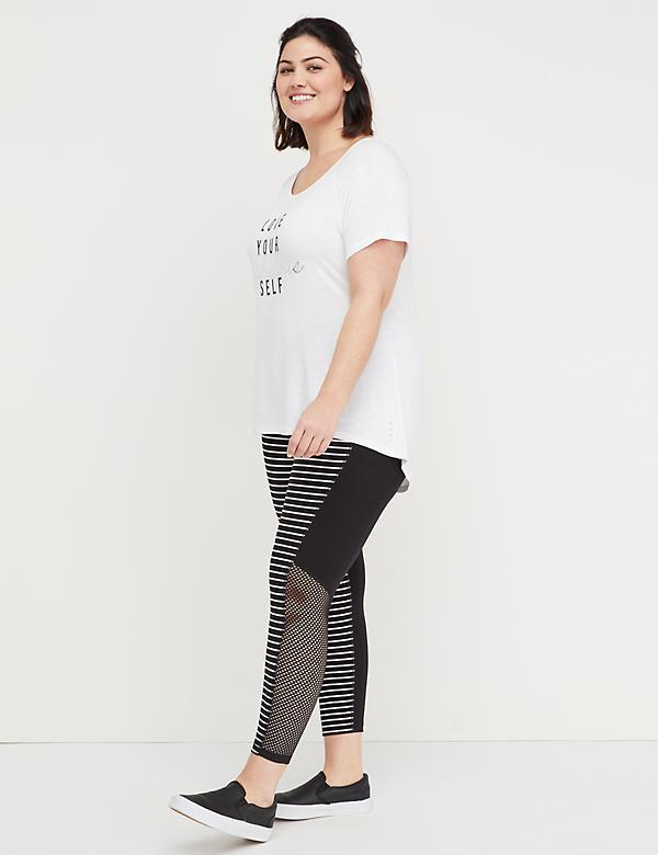 Signature Stretch Active 7/8 Legging - Mesh Splicing