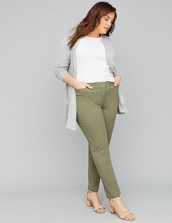 Power Pockets Allie Twill Ankle Pant