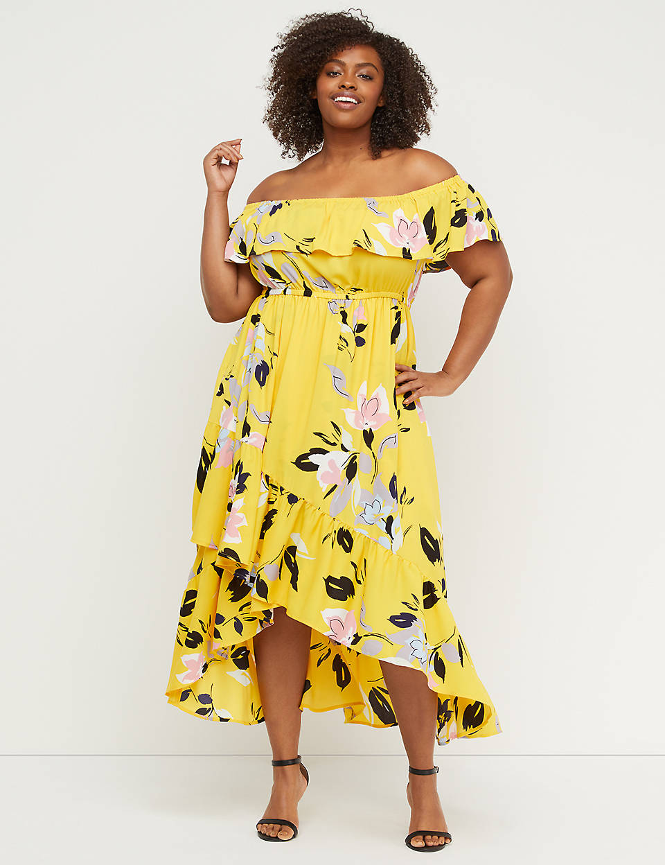 51a81458187 Off-the-Shoulder Ruffle Maxi Dress