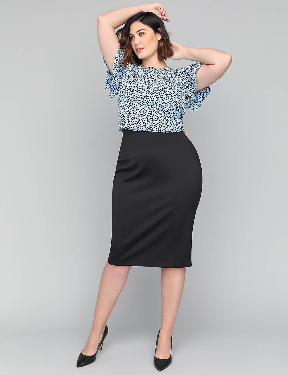 e51dc22b6185a Scuba Midi Pencil Skirt | Lane Bryant