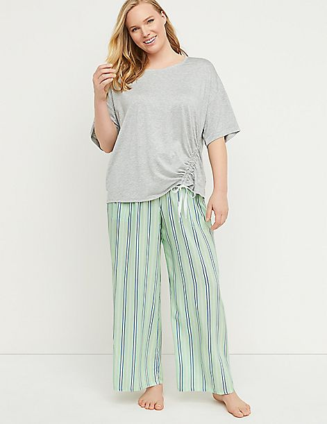 Striped Wide Leg Sleep Pant