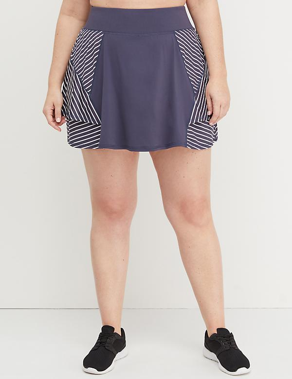 Wicking Active Skort - Striped