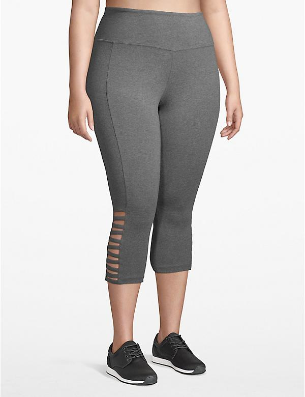 Active Capri Legging - Strappy Hem