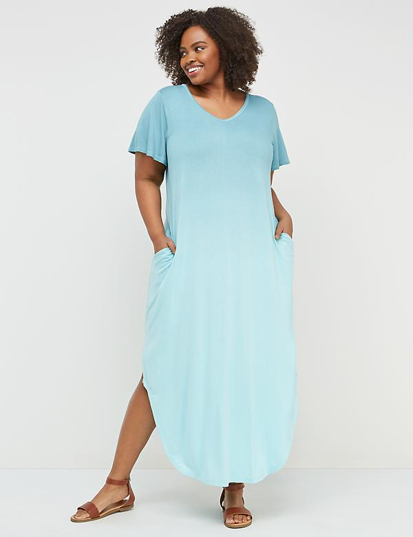 Dip-Dye Active Maxi Dress