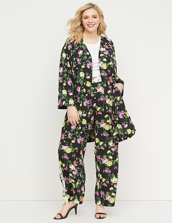 Floral Crepe Duster
