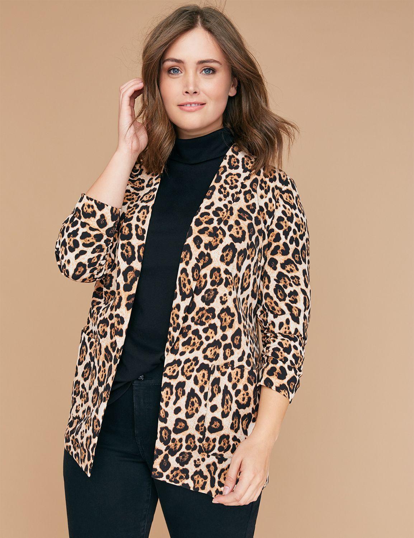 Petite Leopard Print Soft Jacket