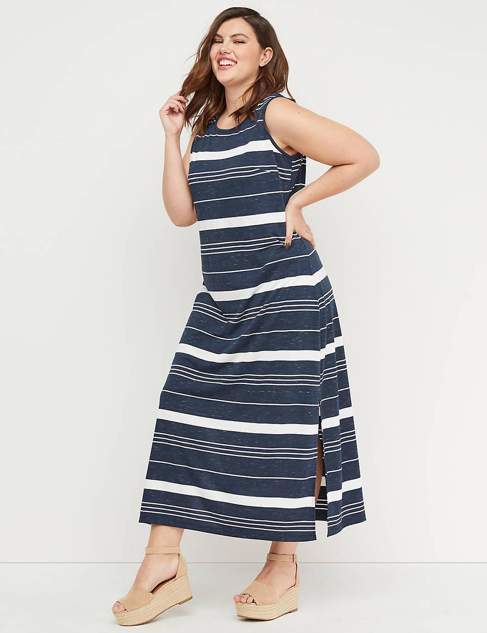 8c7e6049bd72 Striped Maxi Dress   Lane Bryant