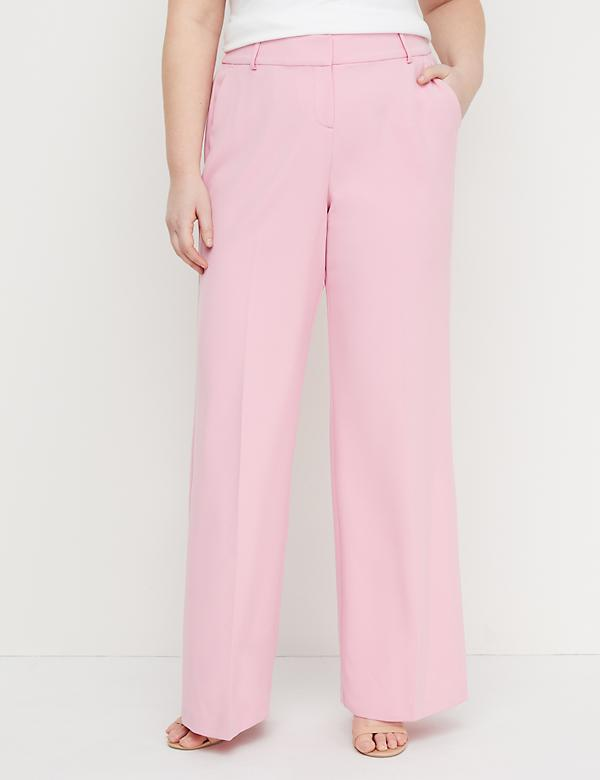 Allie Wide Leg Pant - Crepe