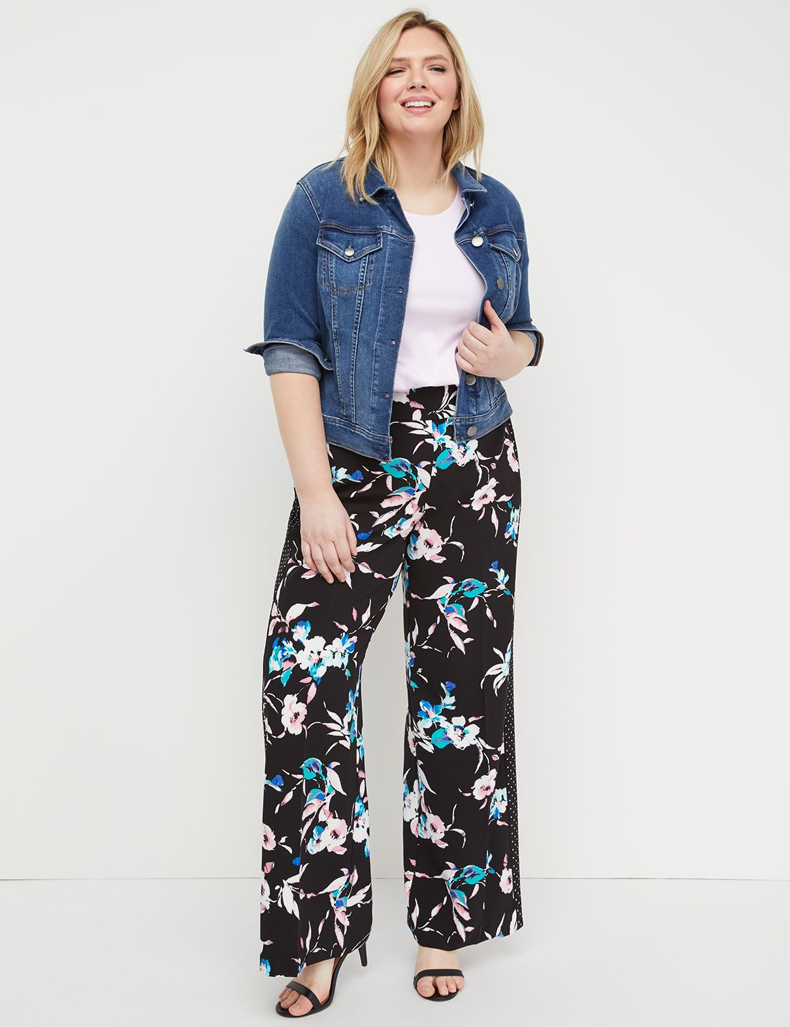 Petite Wide Leg Pant - Pull-On Crepe