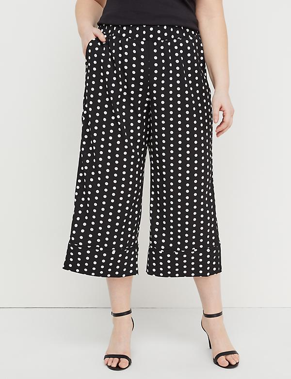 Polka Dot Wide Leg Crop