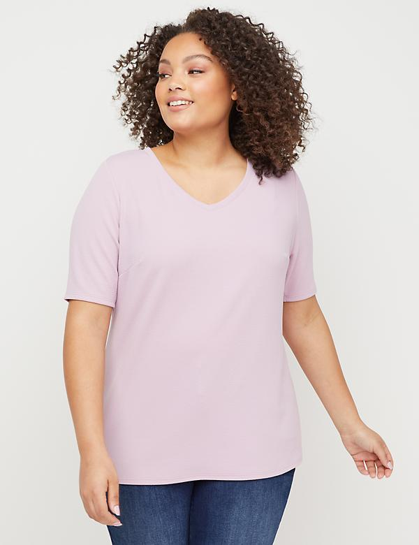 Perfect-Sleeve Crepe Top