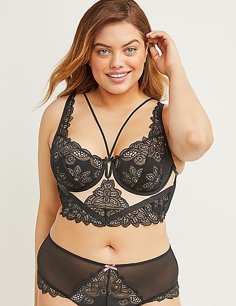 Lace Longline Unlined Balconette Bra