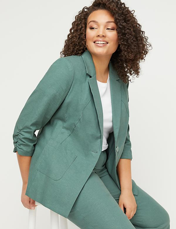 ac2b4316d70 Bryant Blazer - Linen Single Button