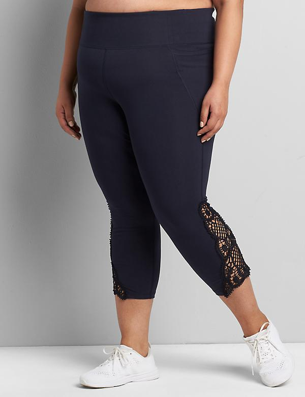 LIVI Capri Power Legging - Crochet Hem