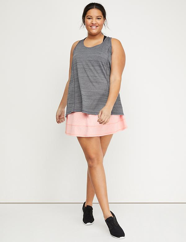 Wicking Active Skort - Tiered Seams