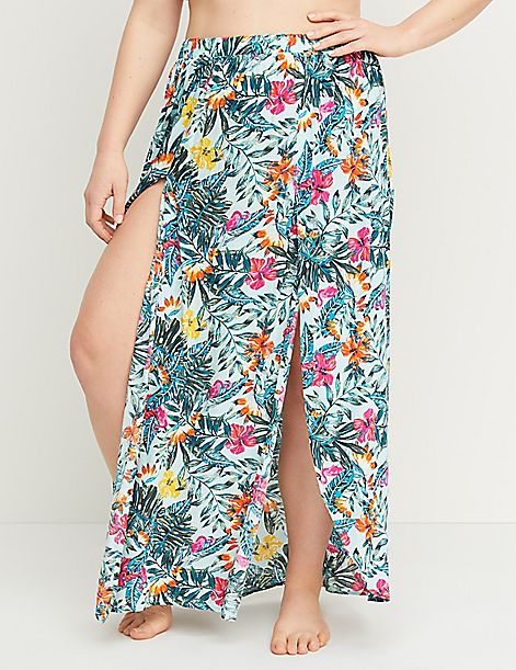 Floral Cover-Up Skirt