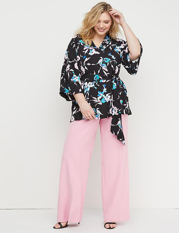 2f8d3536458 Plus Size Tunics Tops. Belted Floral Tunic Top