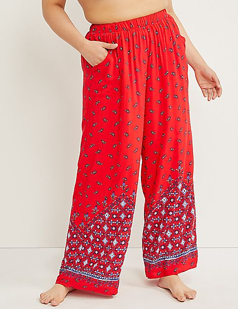 Wide Leg Cover-Up Pant - Paisley