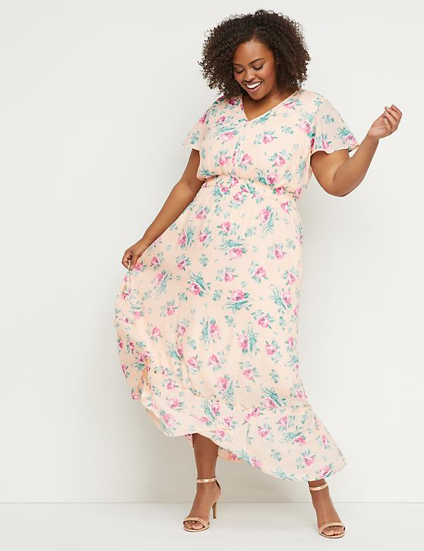 Floral Smocked Waist Maxi Dress