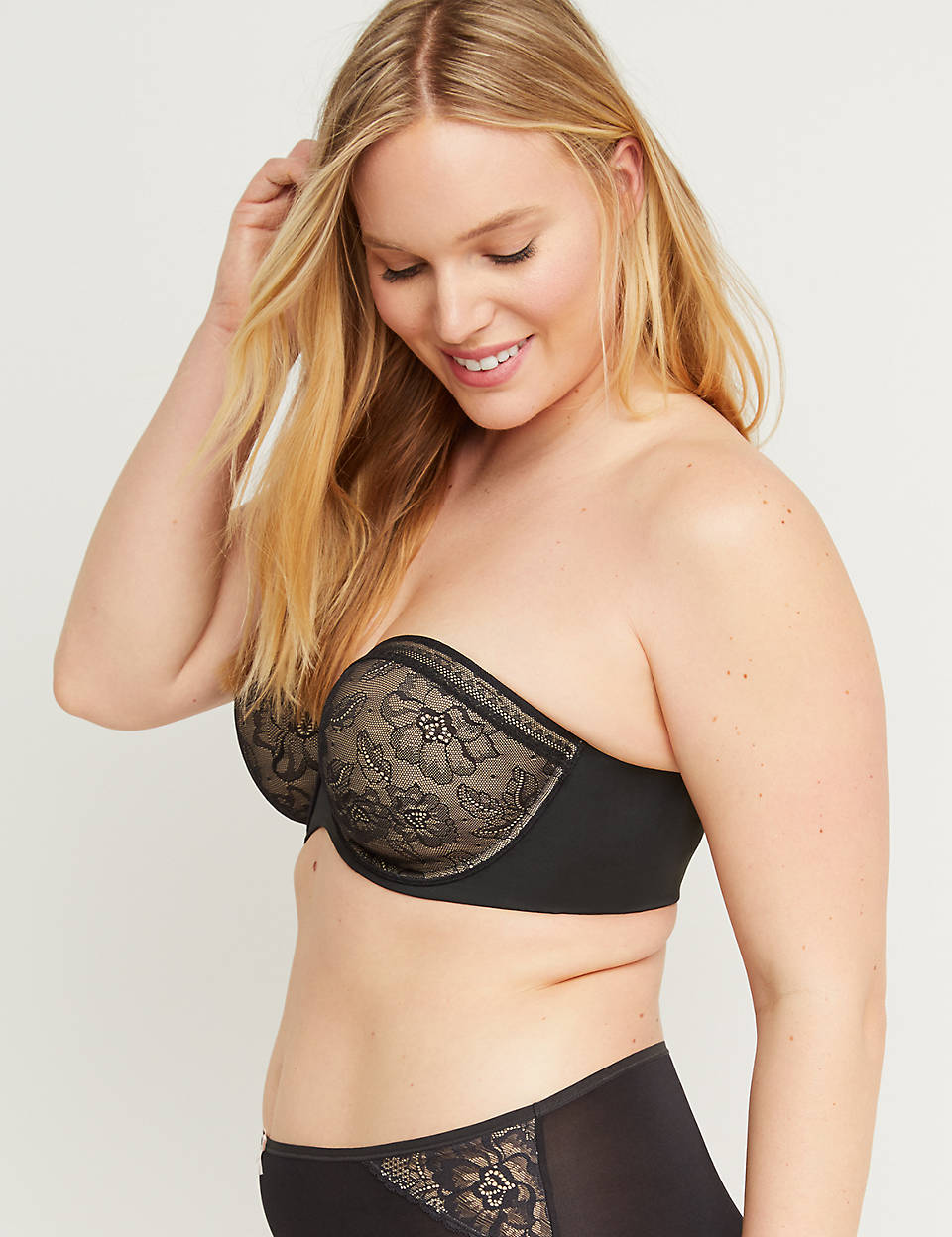 f22634c0ed Lace Lightly Lined Multi-Way Strapless Bra