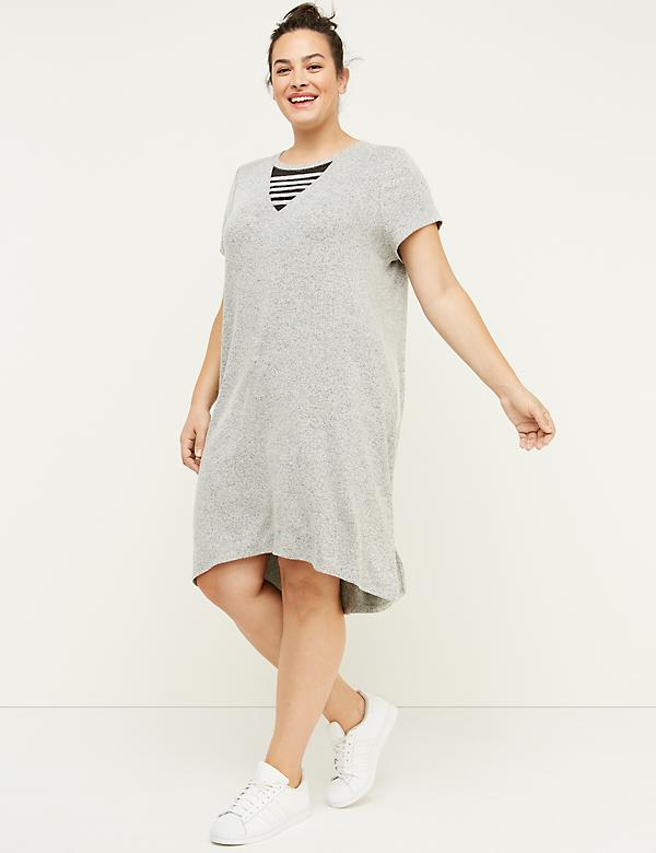 Mesh V-Neck Active Dress