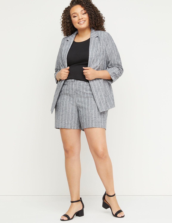 Petite High-Rise Linen Short