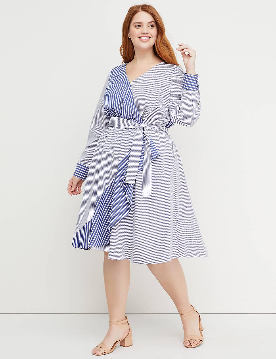 9d1d489c9184d3 Beauticurve Faux-Wrap Fit   Flare Dress