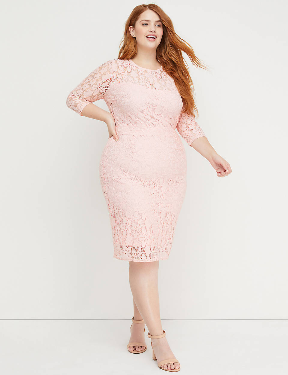 1edda39f5ab5 Beauticurve Lace Sheath Dress | Lane Bryant