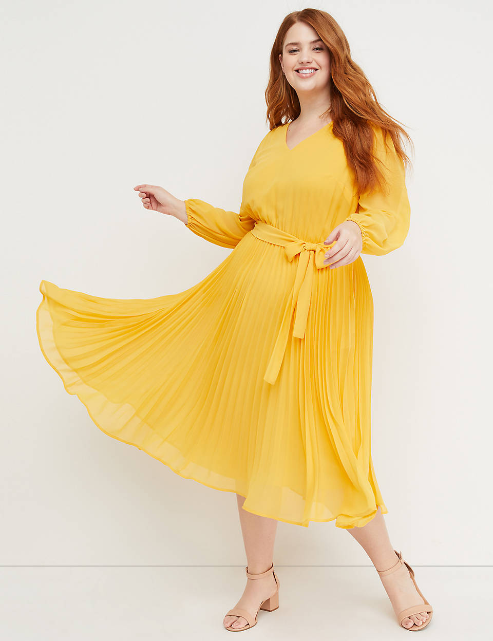 387ee52b824 Beauticurve Pleated Midi Dress