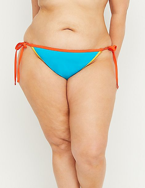 Swim String Bikini Bottom - Contrast Trim