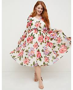 99386f6b6430 image of Beauticurve Floral Pleated Midi Dress with sku 355260