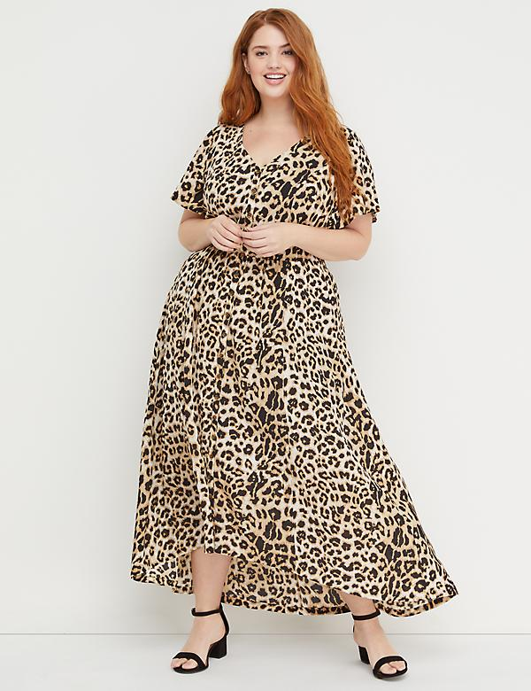 1406f419df4 Beauticurve Animal Print Maxi Dress