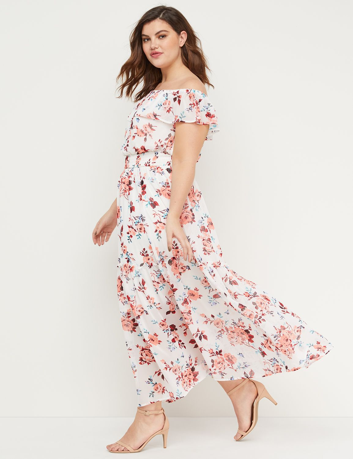 b867f92ad7b Floral Off-the-Shoulder Smocked Maxi Dress. Hover to Zoom