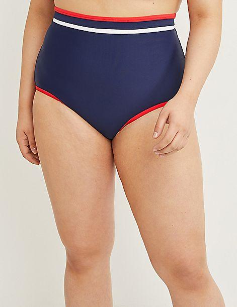 225a4983c565 High-Waist Swim Brief - Contrast Binding