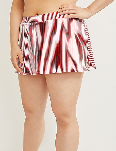 Swim Skirt - Seersucker