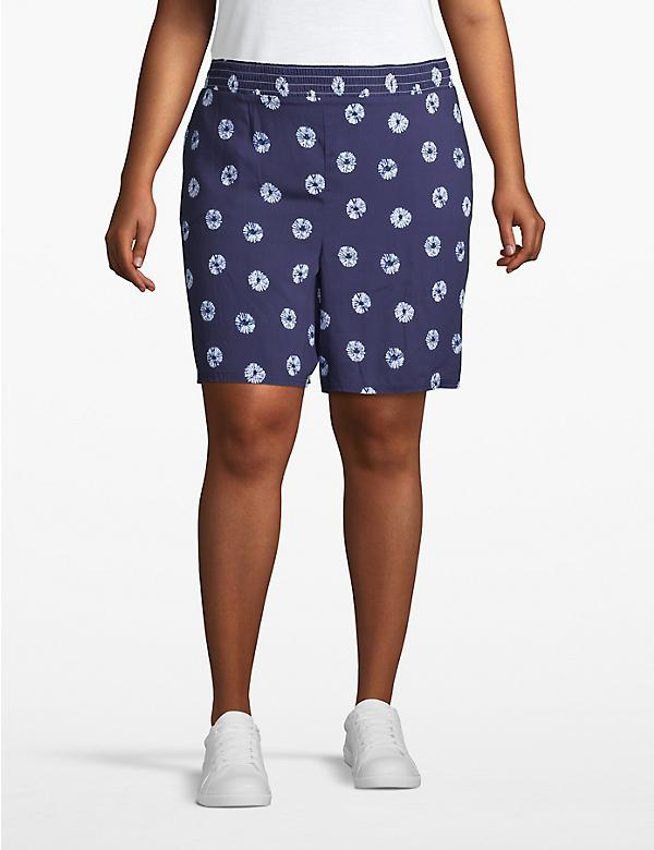 Printed Poplin Short - Pull On