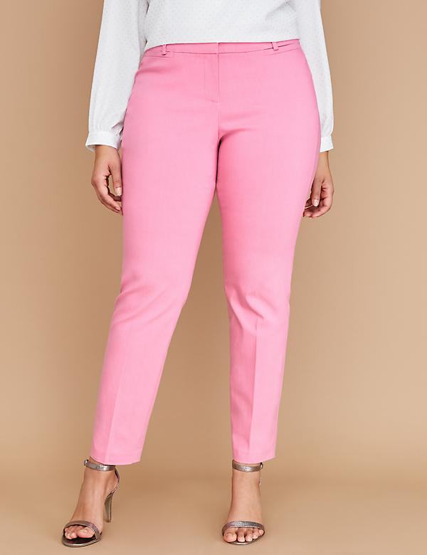 Power Pockets Allie Sexy Stretch Ankle Pant - Pink
