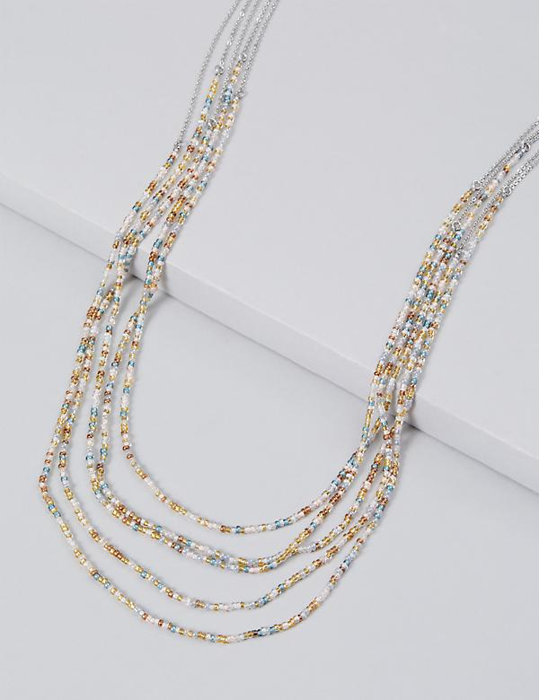 Layered Multi-Beaded Necklace