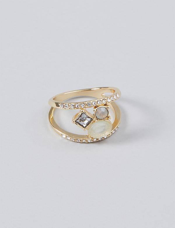 Stone Cluster Statement Ring