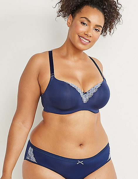a34e6b1b563 Smooth Lightly Lined Balconette Bra with Lace