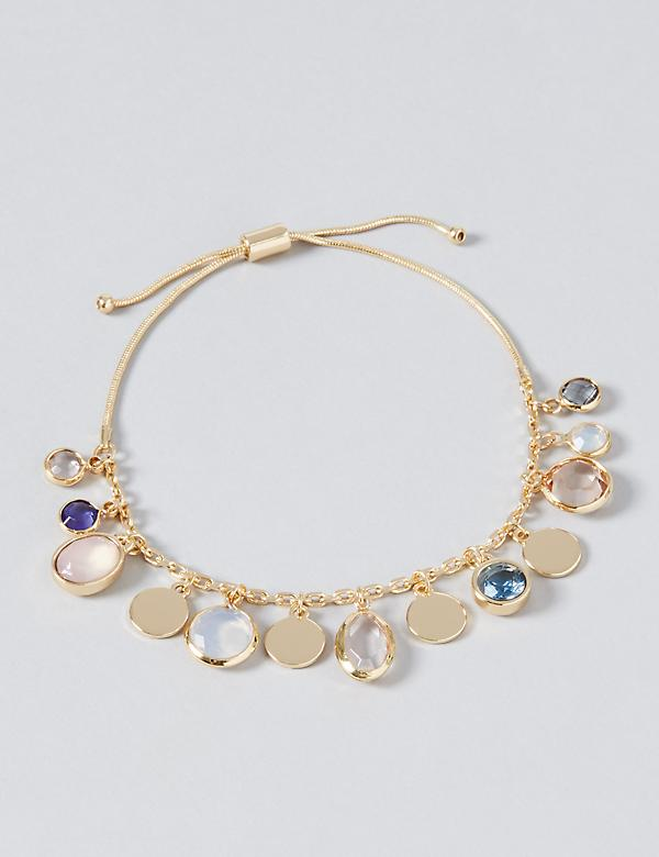 Dangling Stones Adjustable Bracelet
