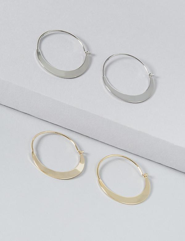 Crescent Hoop Earrings 2-Pack