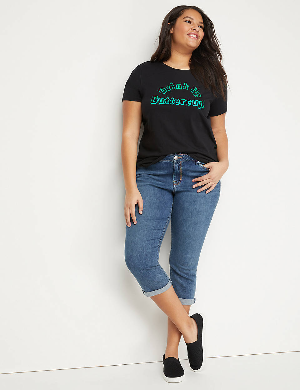 a2d178698ee Drink Up Buttercup Graphic Tee
