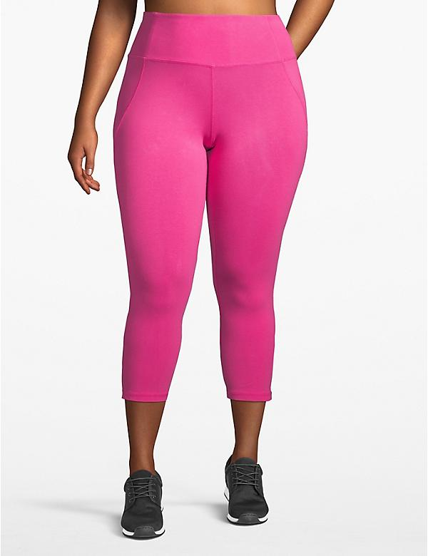 Active Capri Legging - Strappy Back with Mesh